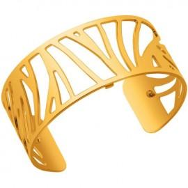 Bracelet manchette Les Georgettes motif perroquet plaqué Or jaune medium