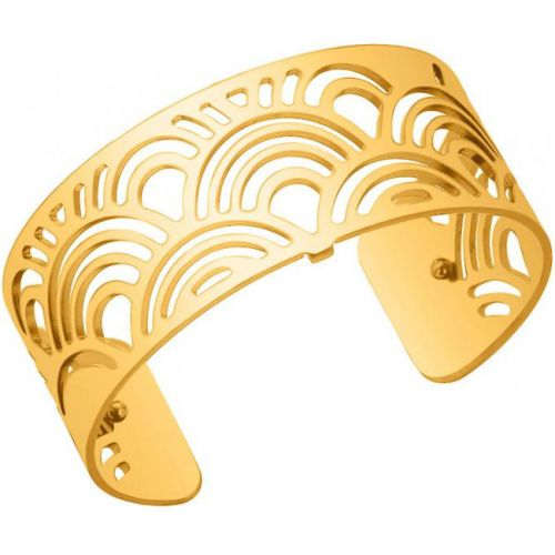 Bracelet manchette Les Georgettes motif poissons plaqué Or jaune medium