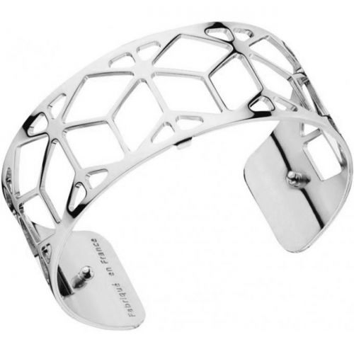 Bracelet manchette Les Georgettes motif resille plaqué Argent medium