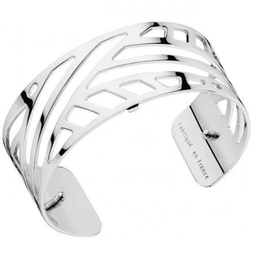 Bracelet manchette Les Georgettes motif ruban plaqué Argent medium