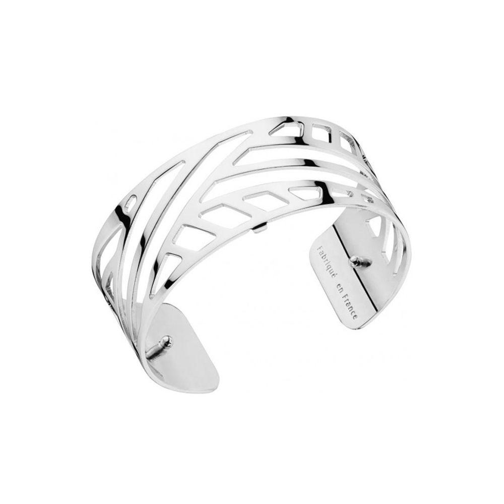 Bracelet manchette femme Les Georgettes motif ruban plaqué Argent medium
