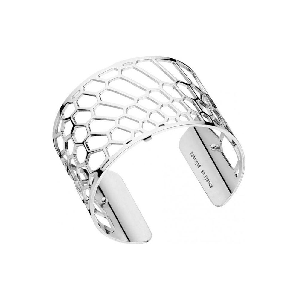 bracelet manchette femme les georgettes motif nid d 39 abeille plaqu argent large. Black Bedroom Furniture Sets. Home Design Ideas
