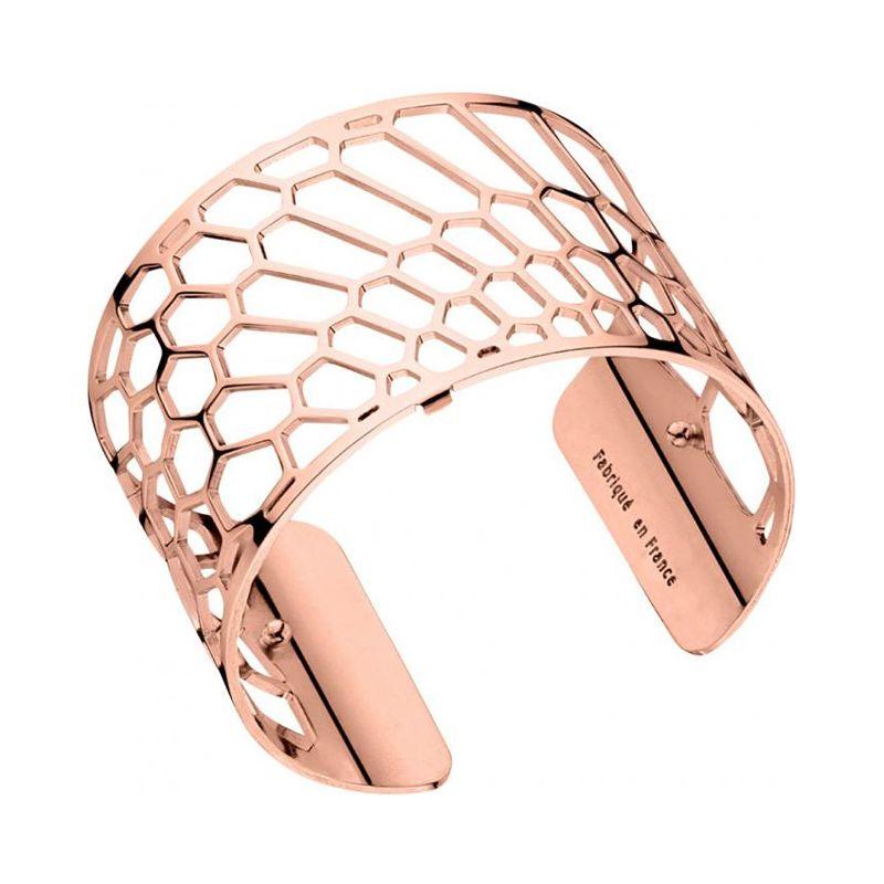 bracelet manchette femme les georgettes motif nid d 39 abeille plaqu or rose large. Black Bedroom Furniture Sets. Home Design Ideas