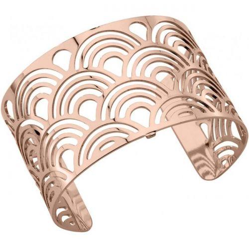 Bracelet manchette Les Georgettes motif poissons plaqué Or rose large