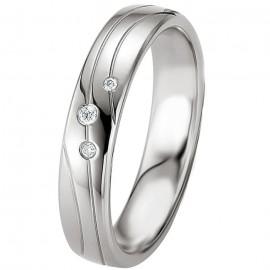 Alliance de mariage Argent et Diamant
