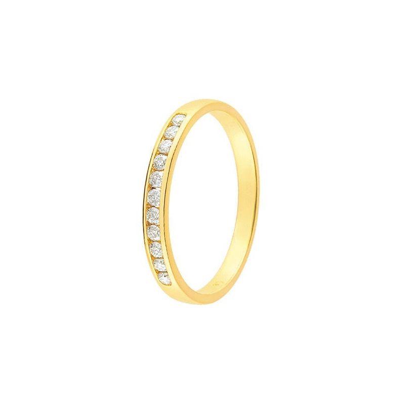 alliance de mariage or jaune et diamant 11770938. Black Bedroom Furniture Sets. Home Design Ideas
