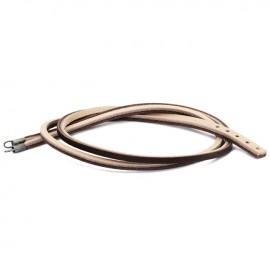 Bracelet cuir Trollbeads marron/gris clair