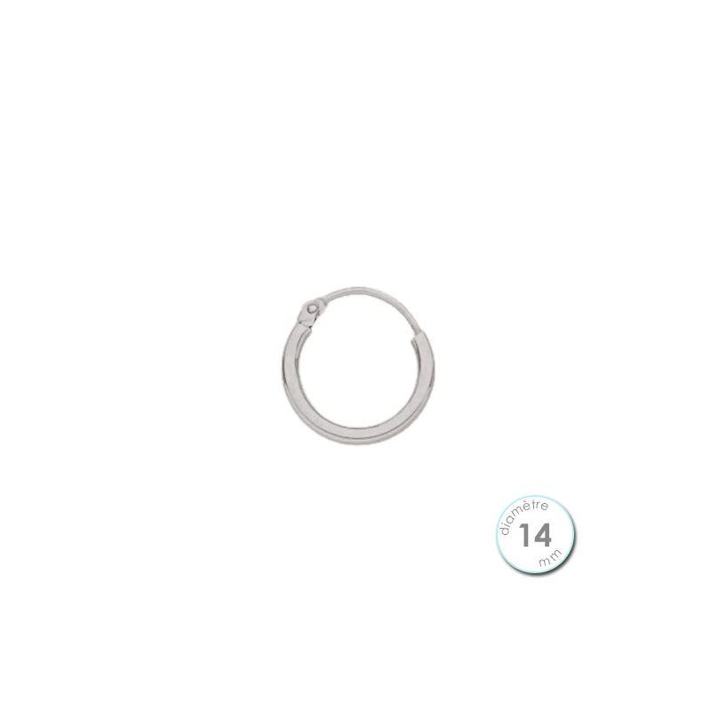 boucle d 39 oreille cr ole l 39 unit or blanc 14 mm. Black Bedroom Furniture Sets. Home Design Ideas