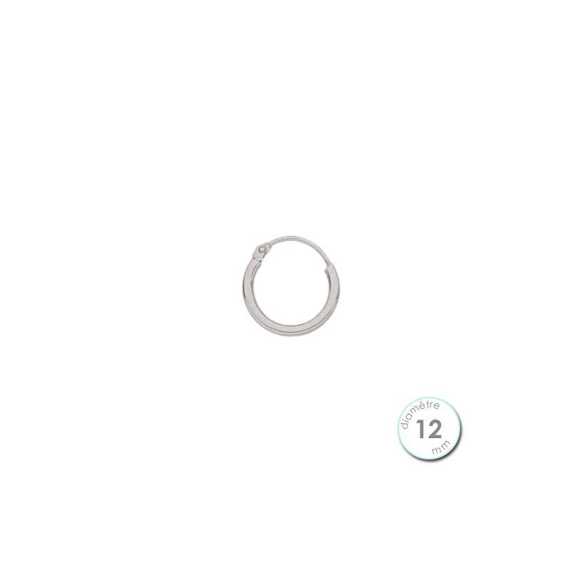 boucle d 39 oreille cr ole l 39 unit or blanc 12 mm. Black Bedroom Furniture Sets. Home Design Ideas