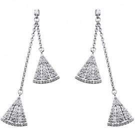 Boucles d'oreilles Argent et oxydes de zirconium