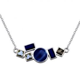 Collier Argent et pierres bleues