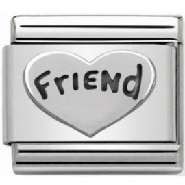Maillon Nomination classic Argent coeur friend
