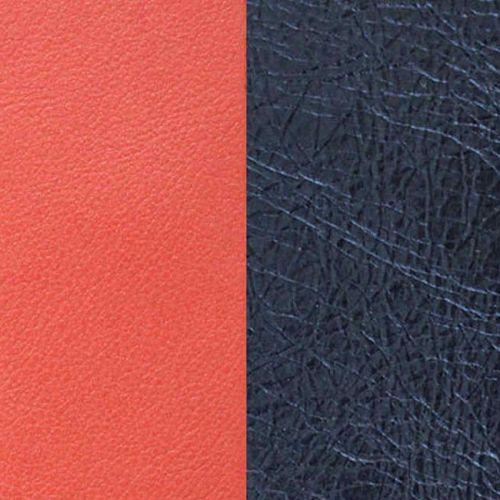 Cuir reversible les Georgettes corail/marine métal
