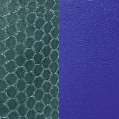 Cuir reversible les Georgettes serpent eau sapin/bleu
