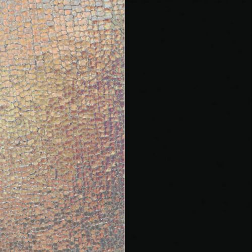Cuir reversible les Georgettes ecail irid/noir soft