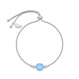 Bracelet Spark Argent et cristaux de Swarovski bleu