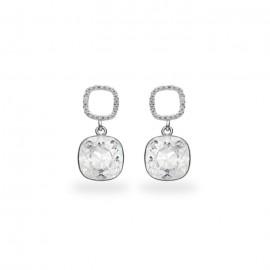 Boucles d'oreilles Spark Argent et cristaux de Swarovski blancs