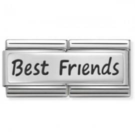 Maillon Nomination classic double Plaque Best Friends