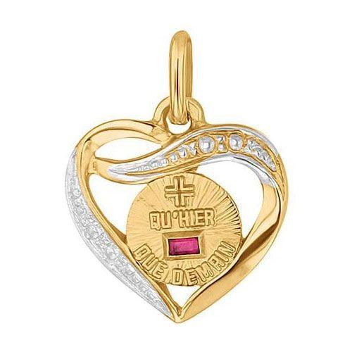 Médaille d'Amour en Or et Rubis synthétique- Augis