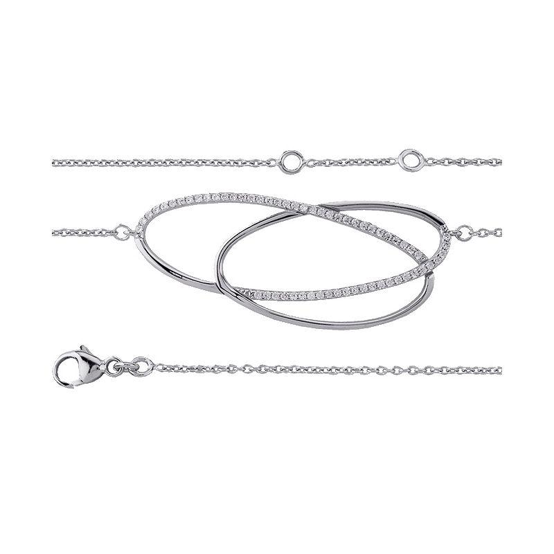 Bracelet plaqué Argent et oxydes de zirconium