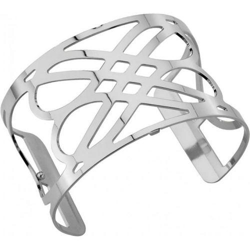 Bracelet manchette Les Georgettes motif infini plaqué Argent large