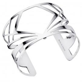 Bracelet manchette Les Georgettes motif bahia plaqué Argent large