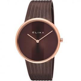 Montre femme Elixa bracelet milanais chocolat