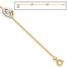 Bracelet femme Plaqué Or et oxydes