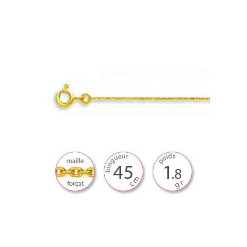 Chaîne Or jaune 750 maille forçat