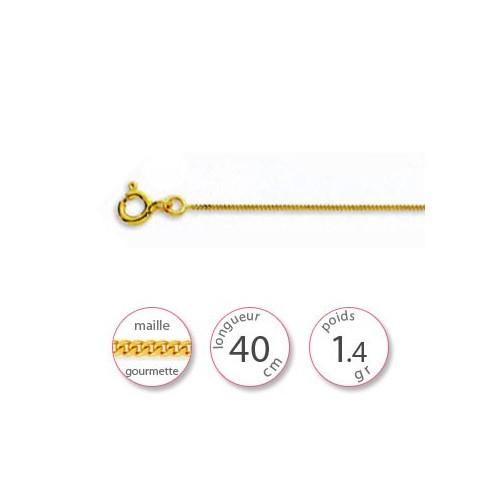 Chaine bapteme Or - 000330