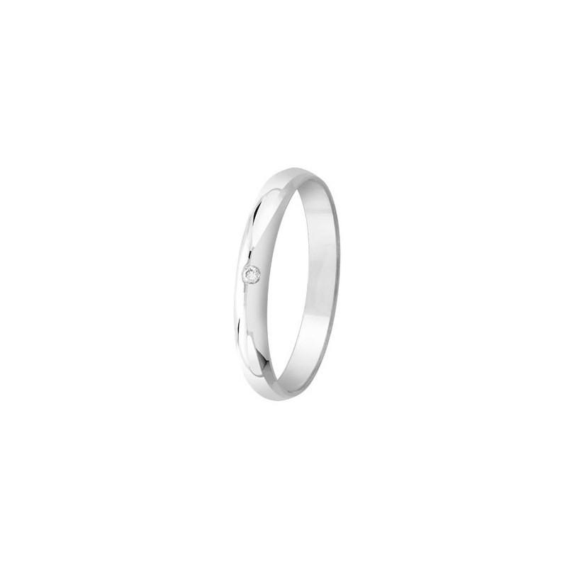 Bague Argent et diamant - 002733