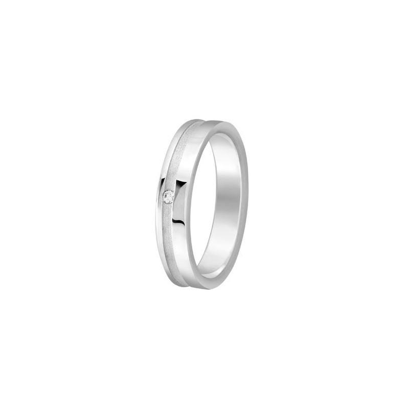 Bague diamant en Argent - 002738