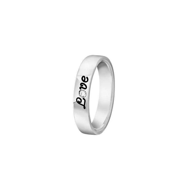Bague Argent et diamant Love - 002741