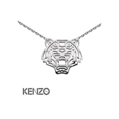 Collier Argent Kenzo tête de tigre - 002809
