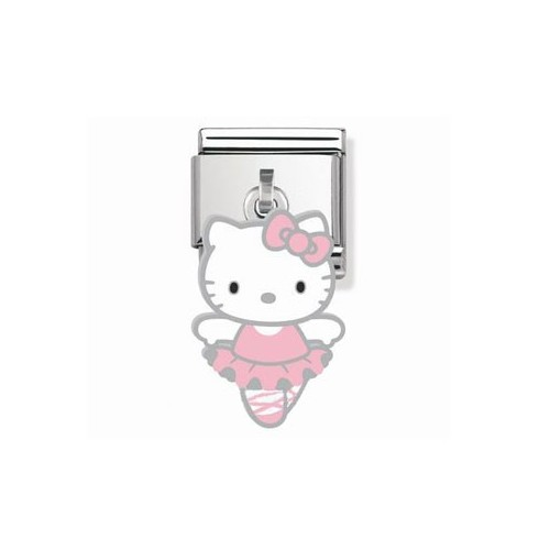 Maillon Nomination Hello Kitty charms danseuse rose