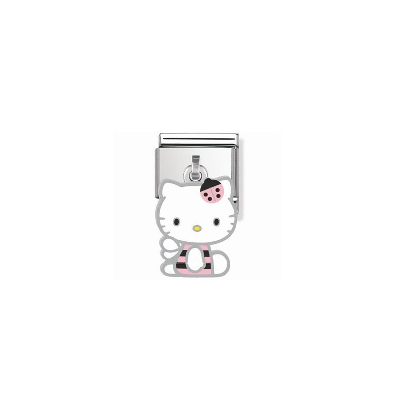 Maillon Nomination Hello Kitty charms coccinelle rose