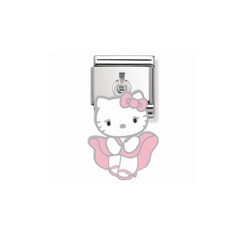 Maillon Nomination Hello Kitty charms robe rose