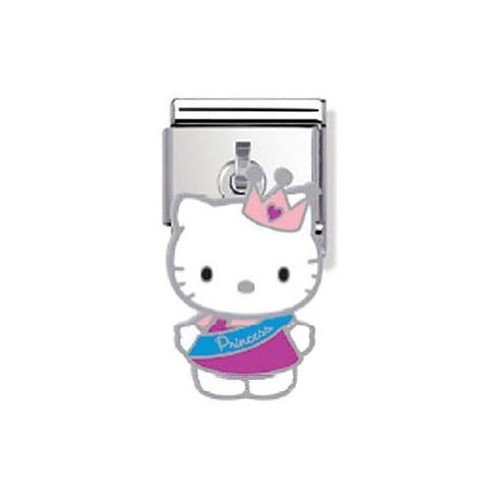 Maillon Nomination Hello Kitty charms princesse