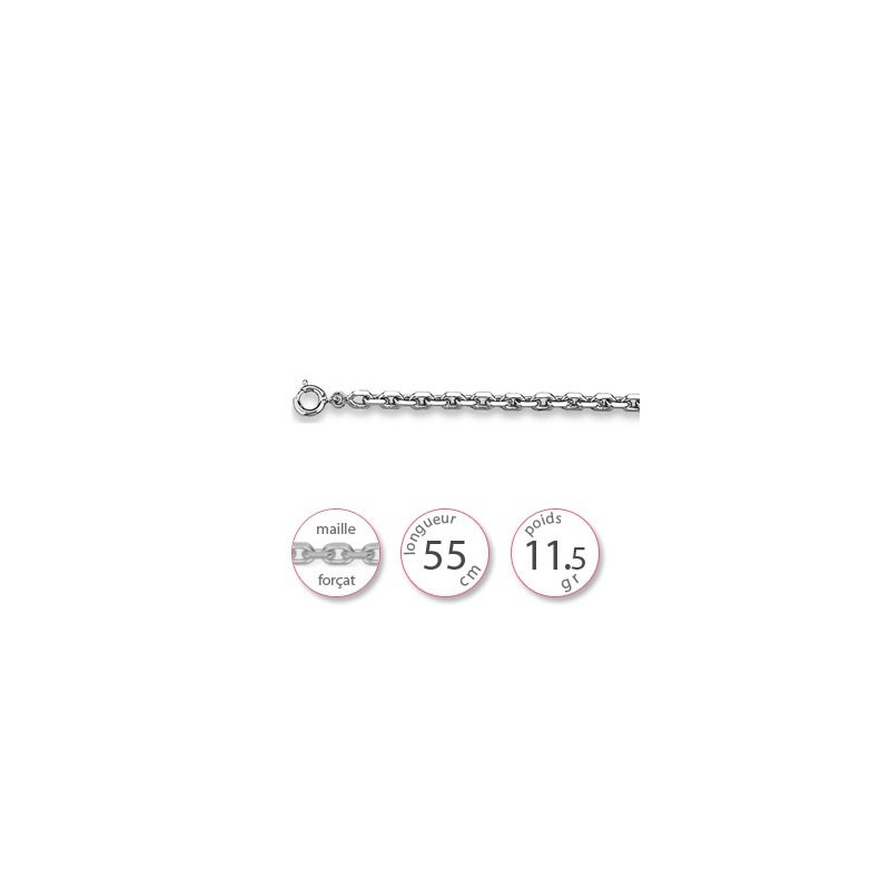 Chaine argent pendentif - 000617