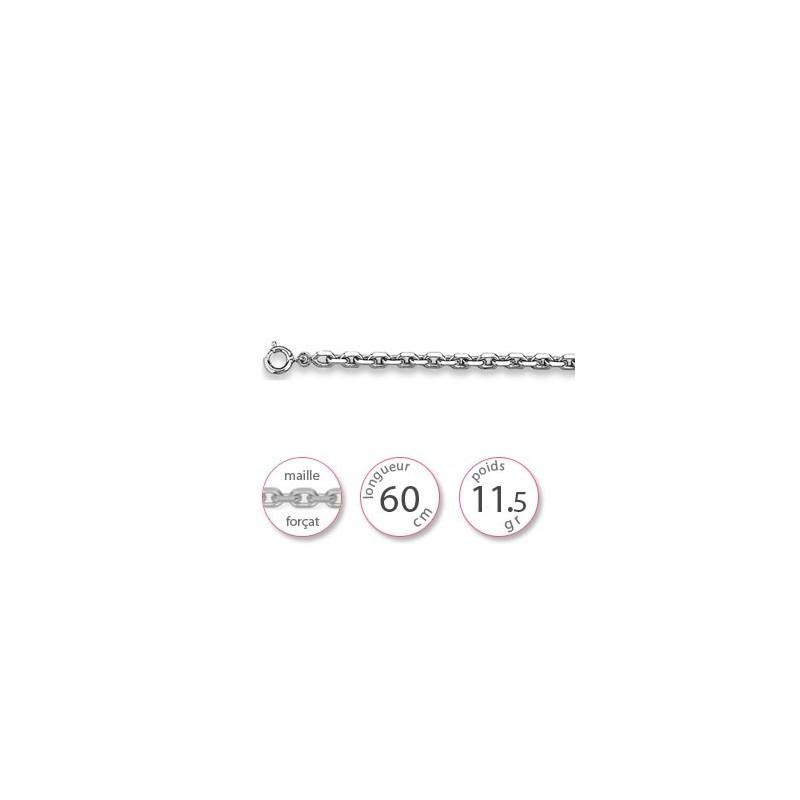 Longue chaine argent - 000618