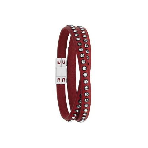 Bracelet cuir cordon rouge