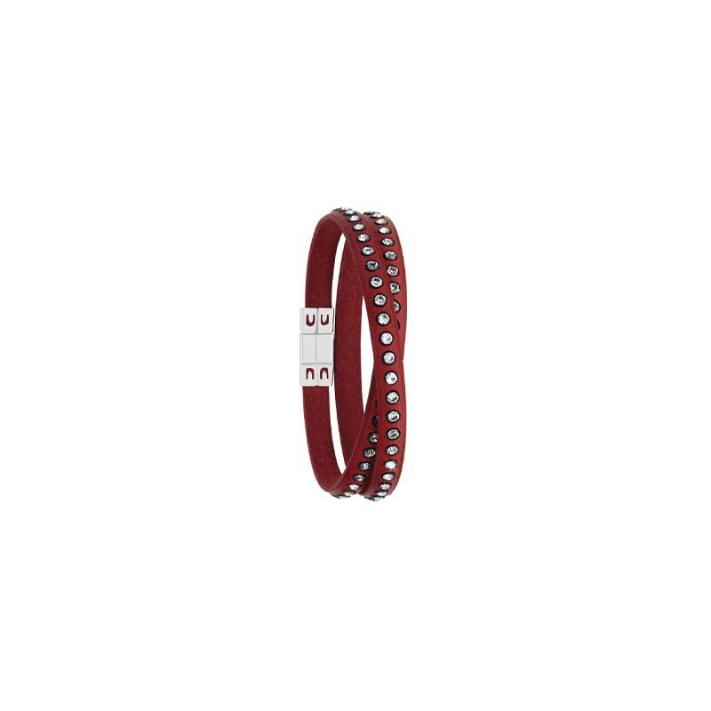 Bracelet cuir cordon rouge - 002869