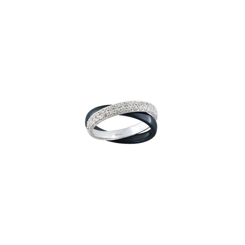 Bague 2 anneaux en Argent