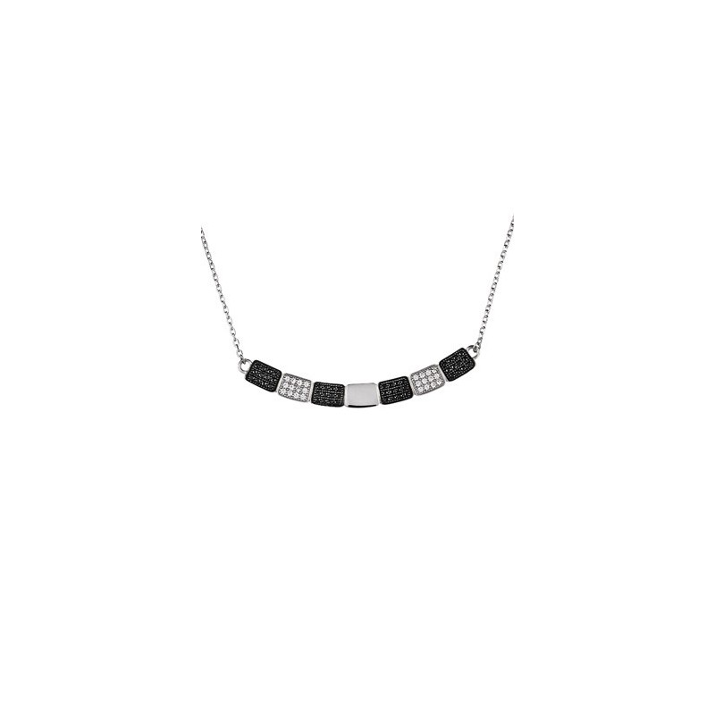 Collier Argent black & White