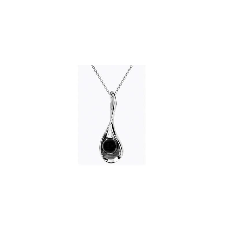 Collier perle en Acier