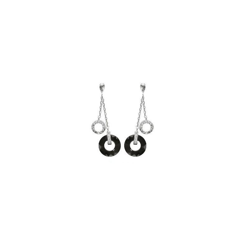Boucles d'oreilles Argent et céramique