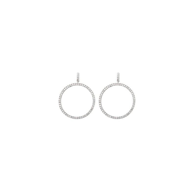 Boucles d'oreilles Argent rondes avec oxydes