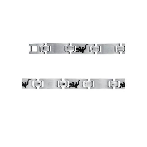 Bracelet Acier motif salamandre