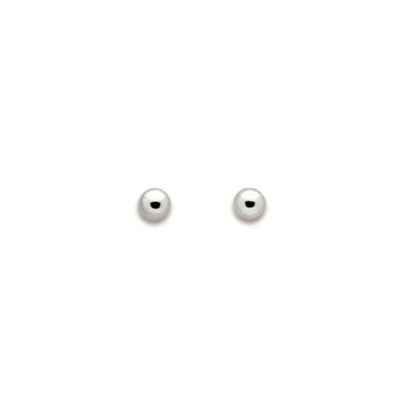 Boucles oreilles or blanc - 000720