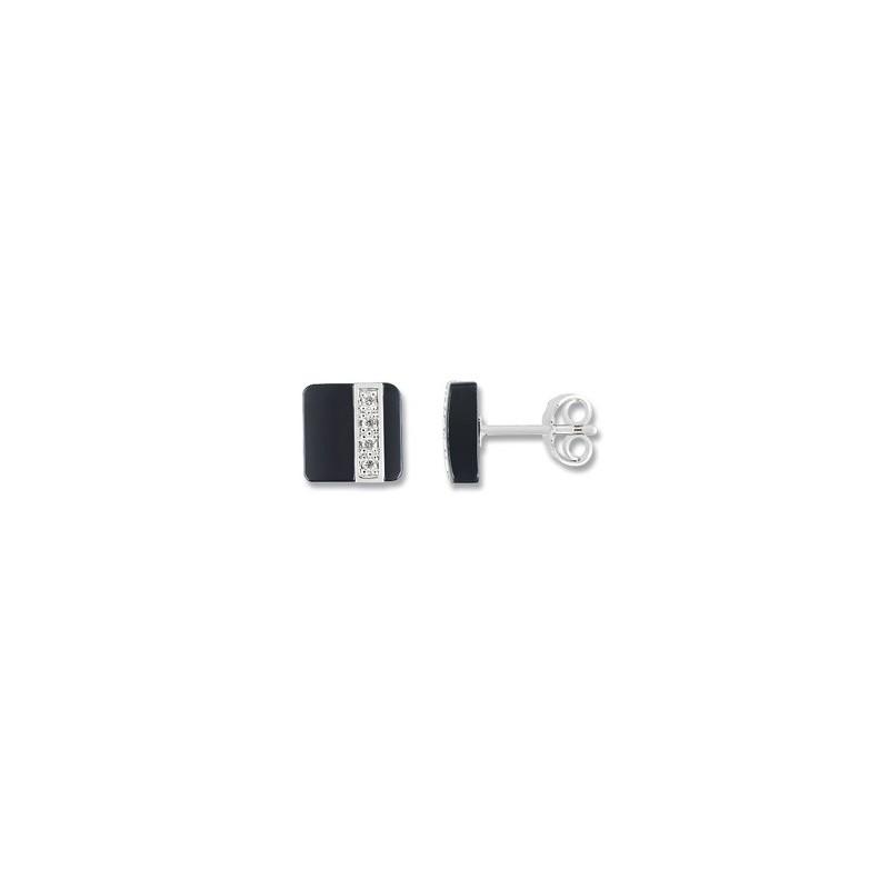 Boucles d'oreilles céramique Or et diamant